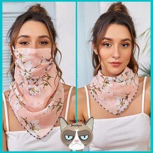 Amaryllis Flower Floral Mask Scarf